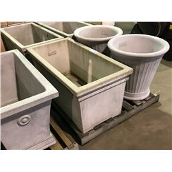 "LARGE 22"" GARDENSTONE 40"" X 20"" RECTANGULAR FLOWER POT"