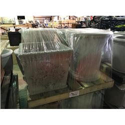 PALLET OF 4 GARDENSTONE ASSORTED OUTDOOR FLOWER POTS