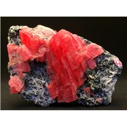 Rhodochrosite and Tetrahedrite, Quartz from Sweet Home Mine, Colorado