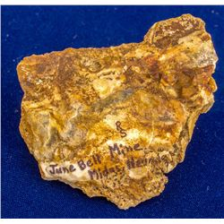 June Bell Mine Native Gold Specimen, Midas, Nevada