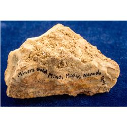 Miners Gold Mine Interesting Quartz Specimen, Midas, Nevada