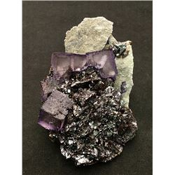 Fluorite and Sphalerite from Elmwood Mine, Tennessee