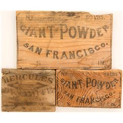Antique Dynamite Box Ends