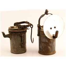 2 Wolf Carbide Lamps