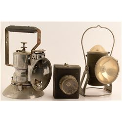 3 Hand Held Mining Lamps