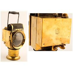 Czech Brass Carbide Lamp