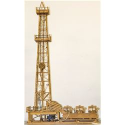 Oil Rig and Drill Matchstick Art