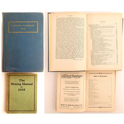 The Manual for Mining for 1935 and Minerals Yearbook 1942