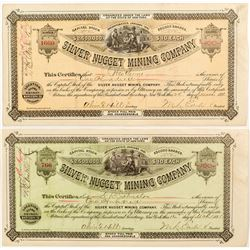 Two Different Silver Nugget Mining Co. Stock Certificates