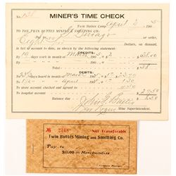 Twin Buttes Mining Time Check and Scrip
