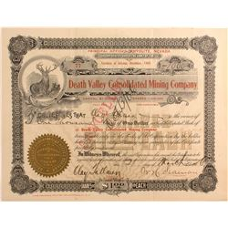 Death Valley Consolidated Mining Co. Stock, Death Valley 1906