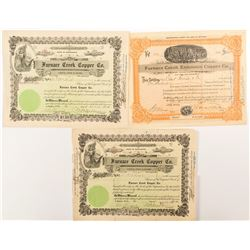 Furnace Creek Copper Co. Mining Stock Certificates