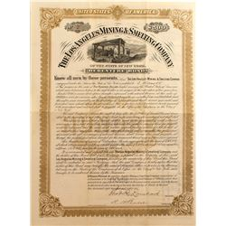 Los Angeles Mining & Smelting Co. $500 Bond, Inyo, Cal. 1886
