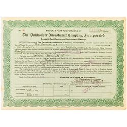 Quicksilver Investment Company, Inc. Certificate