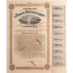 Judson Manufacturing Co. Bond- Dynamite Maker Signed by Egbert Judson