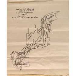 Map of Oroville Gold Dredging District