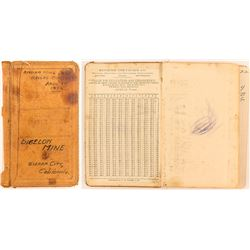 Bigelow Mine Record Book