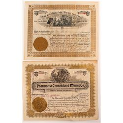 Two Different Colorado Mining Stock Certificates