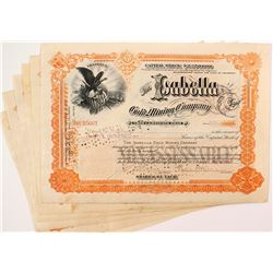 Six Isabella Gold Mining Company Stock Certificates