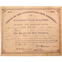 Taylorville Coal Company Stock Certificate
