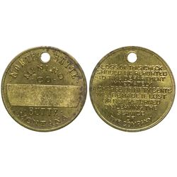 North Butte Mining Co. Employee Metal Tag