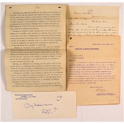 Group of Big Indian Mine Documents (Helena, Montana)