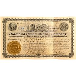 Diamond Queen Mining Co. Stock, Beatty, Nevada 1908
