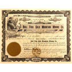 Bull Frog Gold Mountain Mining Stock, Bullfrog, Nevada 1906