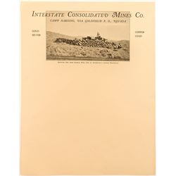 Pictorial Camp Harding (Goldfield area) Letterhead