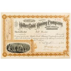 Miller Gold Mining Company Stock Certificate