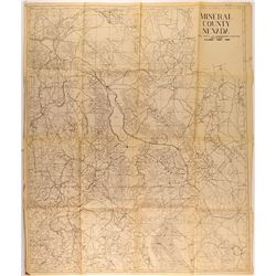 Early Mining Camps and Mining Companies Map of Mineral County, NV and Surrounding Areas