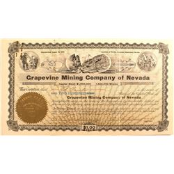 Grapevine Mining Co. of Nevada Stock, Death Valley 1906