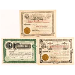 Rawhide and Bovard Mining Stock Certificates