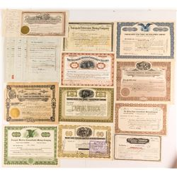 Tonopah Mining Stock Certificate Collection (16)