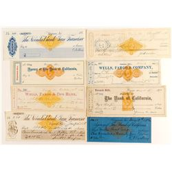 Comstock Revenue Check Collection (8 Different)