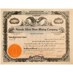 Nevada Silver Horn Mining Company Stock Certificate