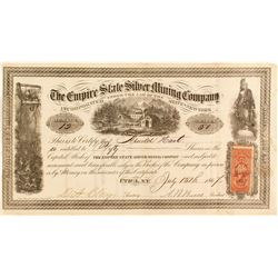 The Empire State Silver Mining Company Certificate
