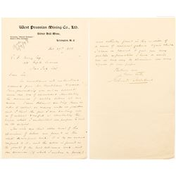 North Carolina Silver Mining Company Letter to an Attorney