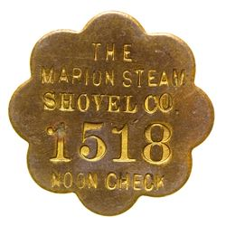 Marion Steam Shovel Co. Noon Check