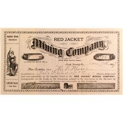 Red Jacket Mining Company Stock Certificate, Oregon 1907
