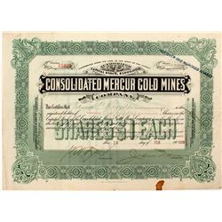 Consolidated Mercur Gold Mines Stock Certificate