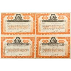Ontario Silver Mining Company Stock Certificates (George Hearst Property)