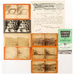 Vermont Stereoviews and Mining Letter on Letterhead
