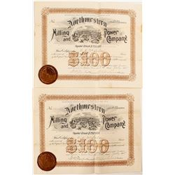 Northwestern Milling and Power Company Stock Certificates