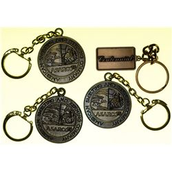 4 ASARCO Medal Keychains