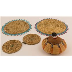Pine Needle Pin Cushion and Hot Pads