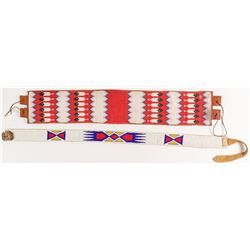 Two Native American Beaded Belts