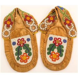 Deerskin Beaded Moccasins