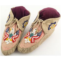 Beaded Eagle Design Moccasins