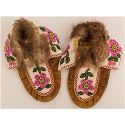 Mink Lined Beaded Moccasins